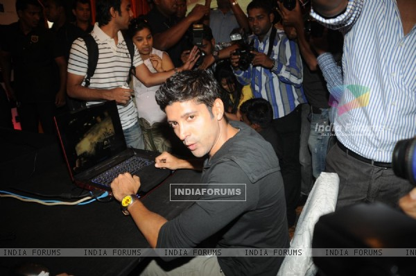 Farhan Akhtar at Zapak.com Game film event at Novotel (128301)