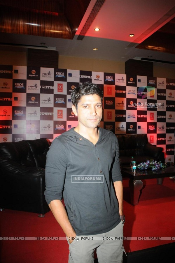 Farhan Akhtar at Zapak.com Game film event at Novotel (128310)