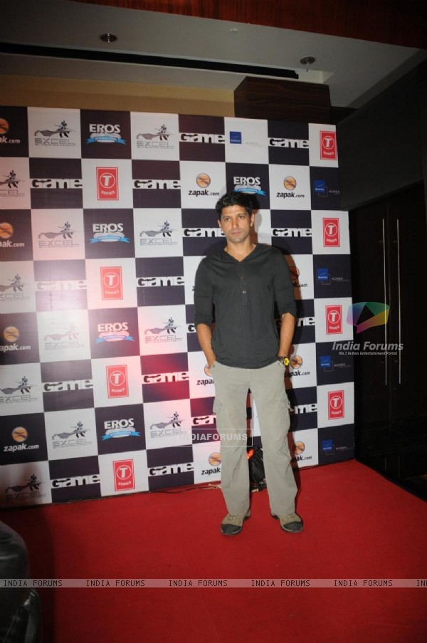 Farhan Akhtar at Zapak.com Game film event at Novotel