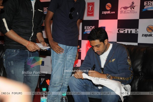 Abhishek Bachchan at Zapak.com Game film event at Novotel (128312)