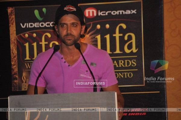 Hrithik Roshan at IIFA Awards nomination in Toronto, Ontario, Canada