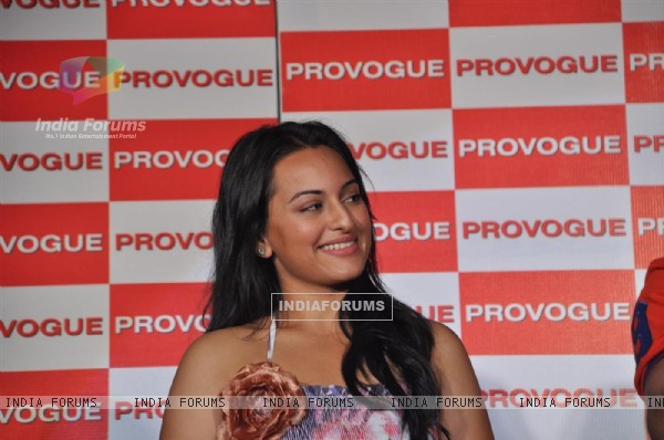 Sonakshi Sinha Provogue's brand ambassadors unveiled its new Spring Summer Catalouge