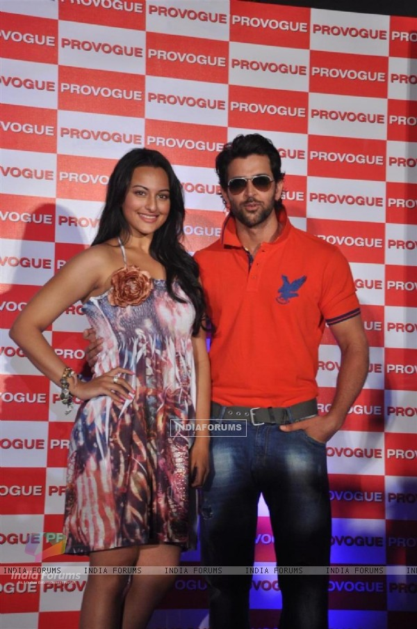 Hrithik Roshan and Sonakshi Sinha Provogue's brand ambassadors unveiled its new Spring Summer Catalouge