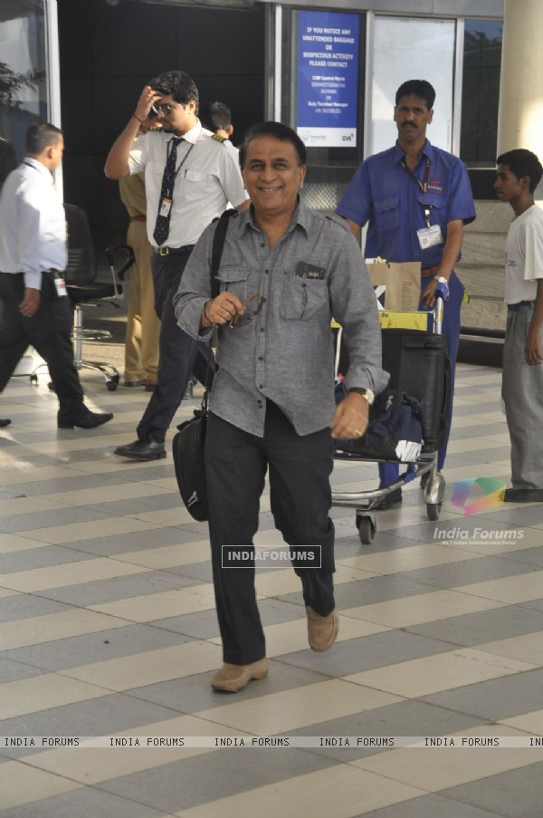 Sunil Gavaskar arrive from Kolkata after KKR win. .