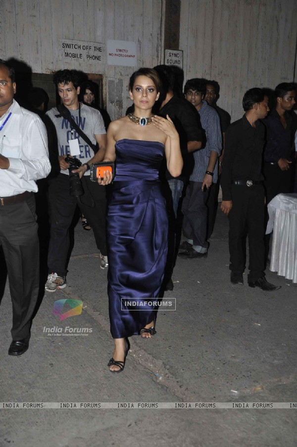 Kangna Ranaut at the Pantaloons Femina Miss India 2011 Finale, Mehboob Studio. .