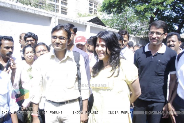 Ekta Kapoor promotes her Marathi Movie at Plaza, Mumbai. .