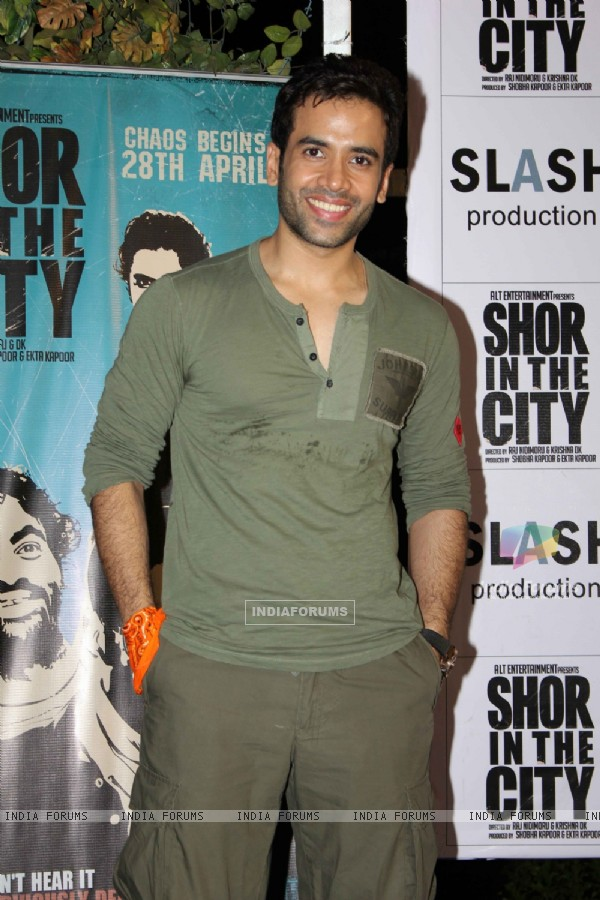 Tusshar Kapoor at 'Shor In The City' movie promotional event at Inorbit Mall