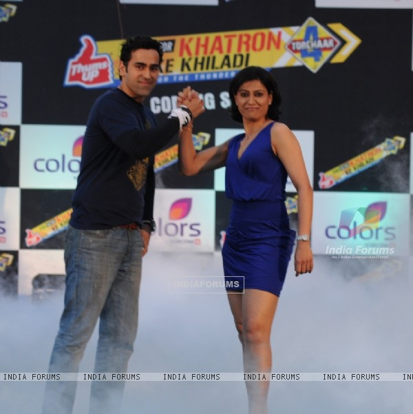 Anjum Chopra and Sandeep Sachdev at Press Conference of Fear Factor Khatron Ke Khiladi Season 4