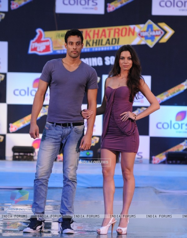 Mia and Sangram singh at Press conference of Fear Factor Khatron Ke Khiladi Season 4
