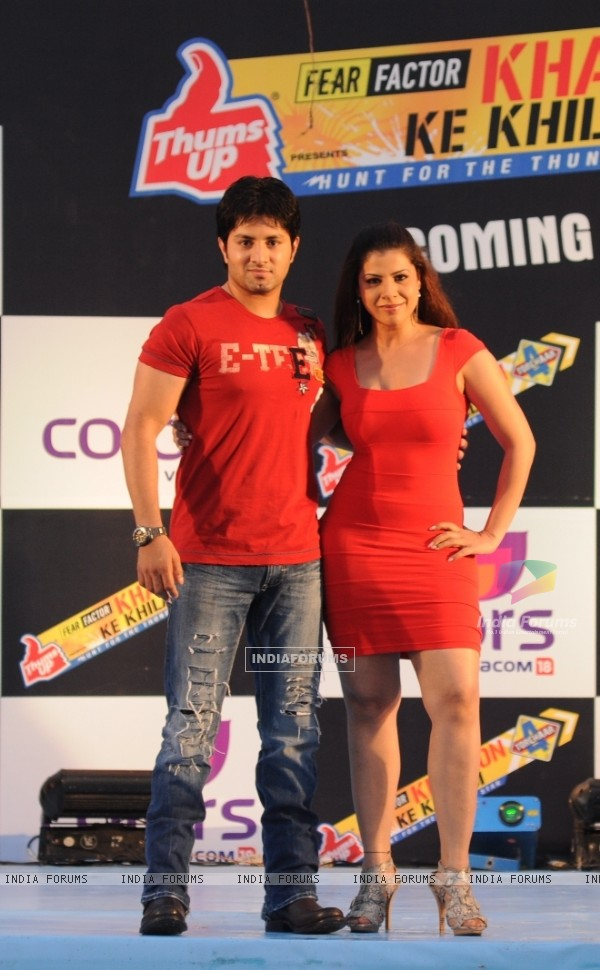 Sambhavna Seth and Khalid Chowdhary at Press conference of Fear Factor Khatron Ke Khiladi Season 4