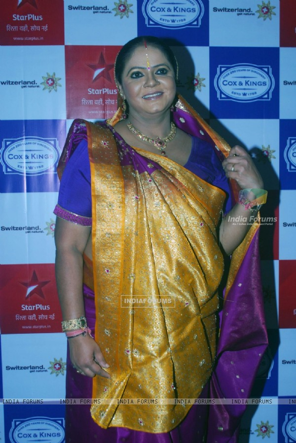 Rupal Patel as Kokila Modi of Saathiya family of Star Plus snapped before leaving for Switzerland