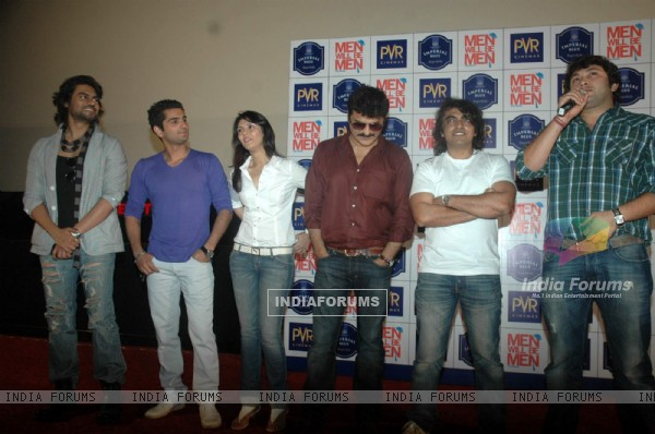Cast and Crew at 'Men Will Be Men' film press meet at PVR