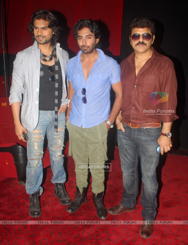 Gaurav Chopra, Rohit Khurana and Rajesh at press conference of movie 'Men will be Men' at PVR Juhu