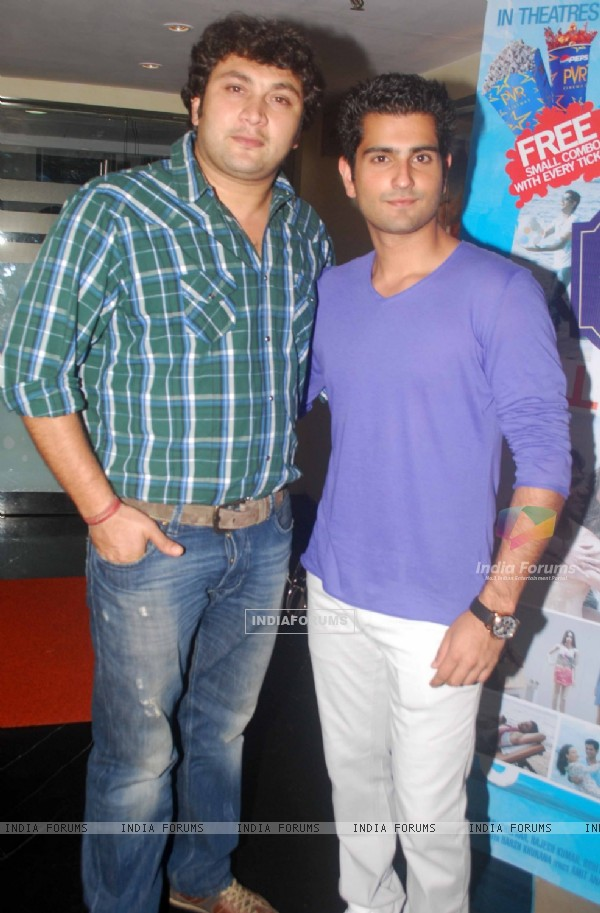 Rajesh Kumar and Rahil Tandon at press conference of movie 'Men will be Men' at PVR Juhu