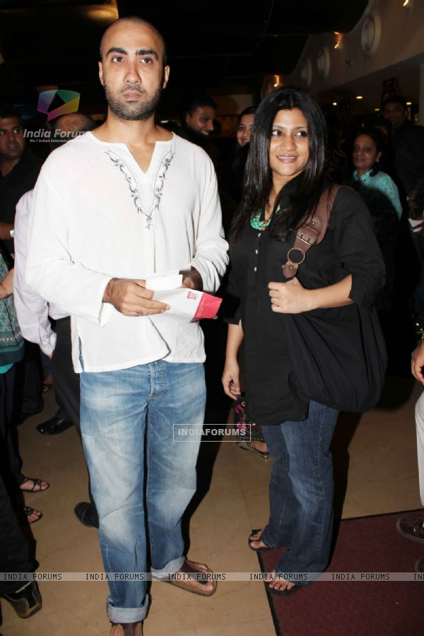 Ranvir Shorey and Konkona Sen at special screening of movie 'Dum Maaro Dum' at PVR Juhu