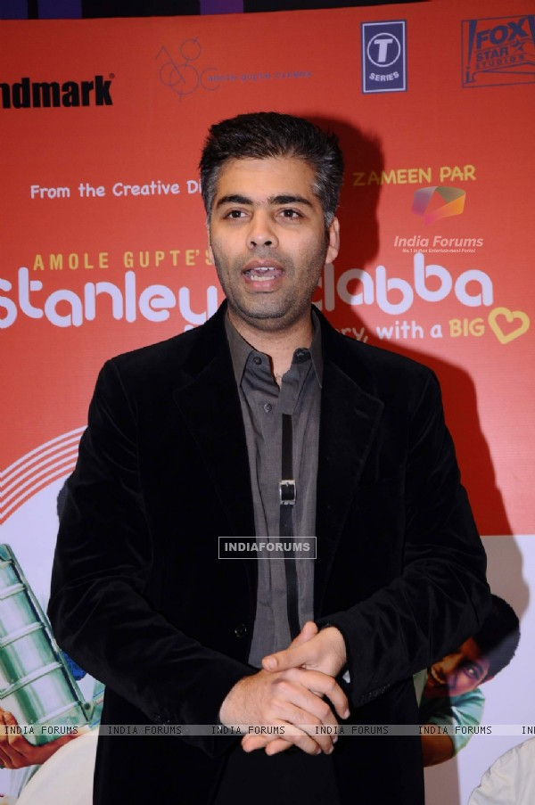 Karan Johar launches the music of the film Stanley Ka Dabba at Landmark. .