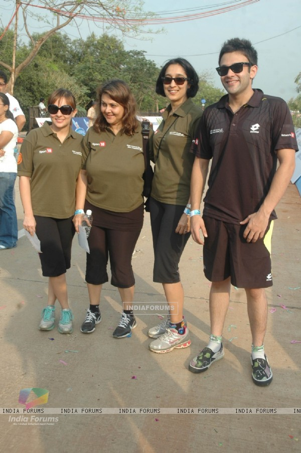 Celeb at BSA Cyclothon, Bandra. .