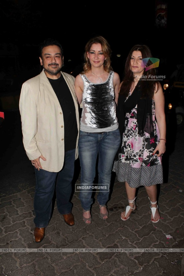 Adnan Sami with wife at launch of Ameesha Patel's production house Aurus