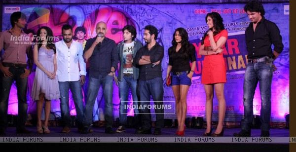 Cast and Crew at music launch of movie 'Pyaar Ka Punchnama'