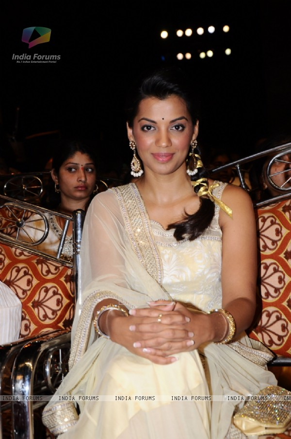 Mugdha Godse at 48th Marathi Chitrapatt Puraskar Sohla at Gateway of India