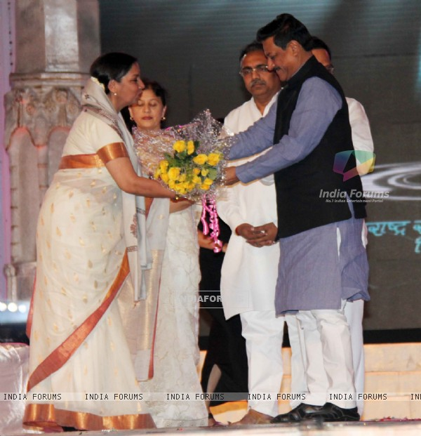 Shabana Azmi at 48th Marathi Chitrapatt Puraskar Sohla at Gateway of India