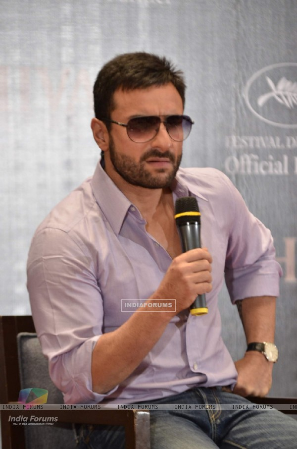 Saif Ali Khan at Chivas Cannes red carpet appearance announcement at Trident. .