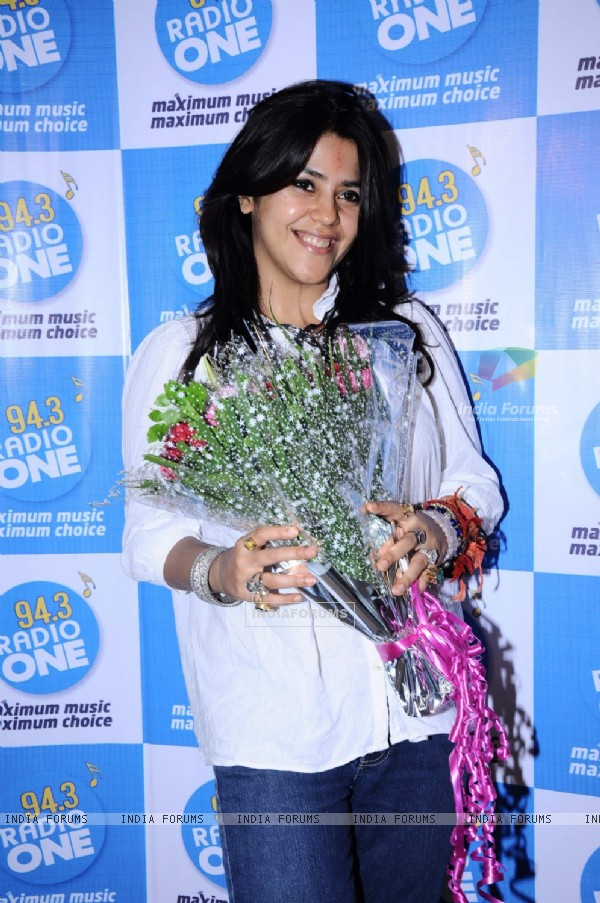 Ekta Kapoor cast of Ragini MMS at Radio one at Parel