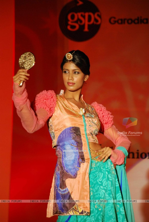 Models walk the ramp at Garodia institute fashion show at Ghatkopar with the theme 'Melange'