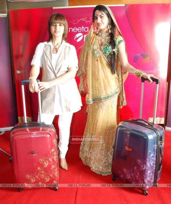 Neeta Lulla with Miss India Kanishta Dhanker launches designer bags with VIP at JW Marriott