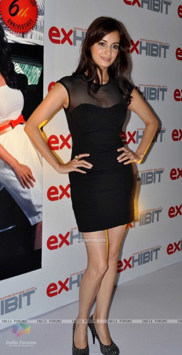 Dia Mirza at Exhibit Magazine anniversary bash, Vie Lounge, Juhu in Mumbai
