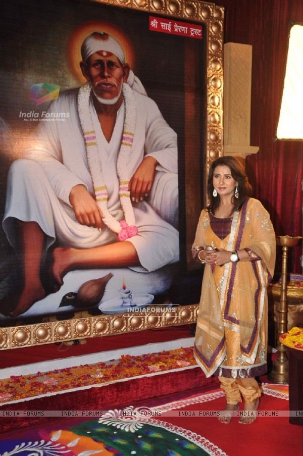 Poonam Dhillon at star plus Sai Baba musical, Filmcity. .
