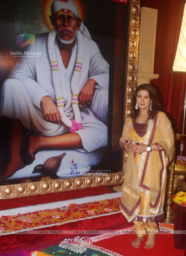 Poonam Dhillon at Star Plus Sai Baba musical, Filmcity