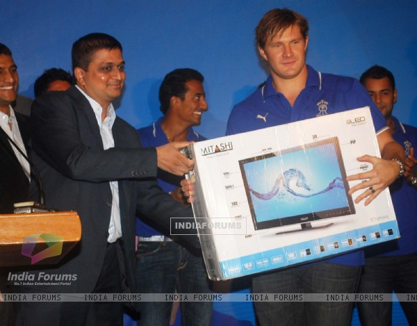 Rajasthan Royals team launches new range of Lcd Mitashi
