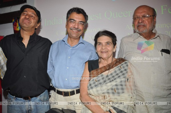 Celebs at Kashish Mumbai International Queer Film Festival press meet at press Club