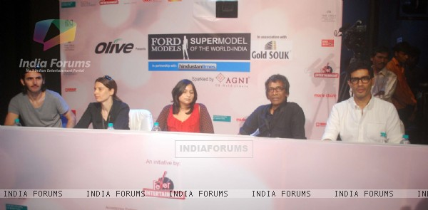 Judges at Ford Super Model auditions