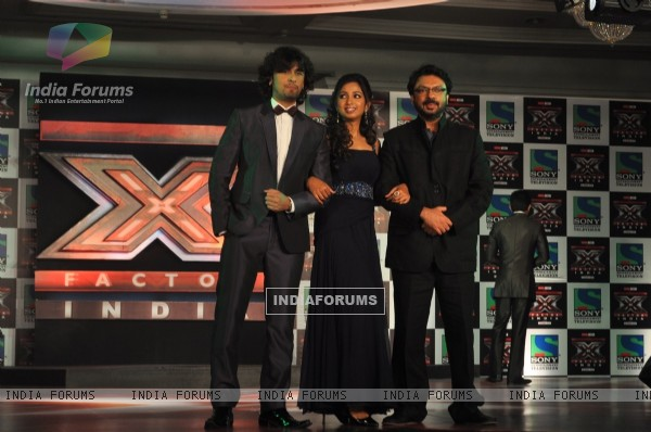 Sonu Nigam, Shreya Ghosal and Sanjay Leela Bhansali at 'X Factor India' Launch