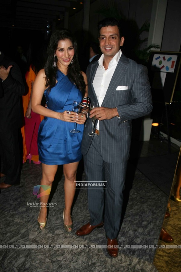 Sophie Chowdhary at Farah Ali Khan's dinner for Moet & Chandon champagne launch