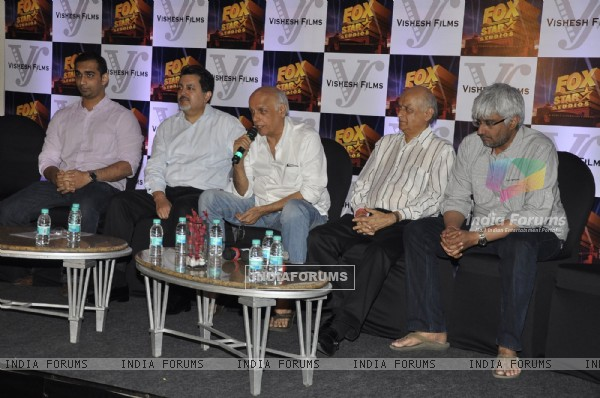 Mahesh and Mukesh Bhatt grace Fox Star Vishesh Studio tie up meet at JW Marriott