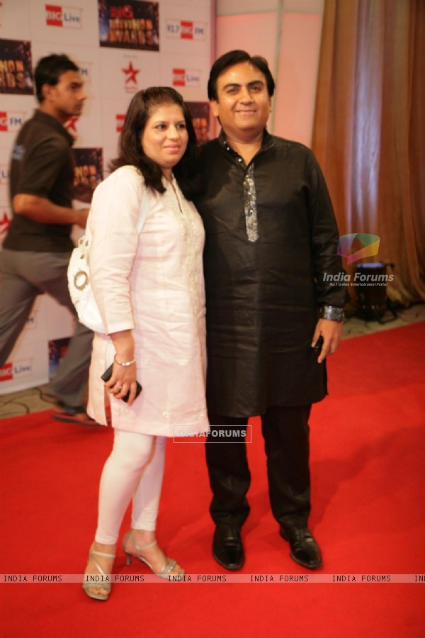 Dilip Joshi at Big Television Awards at Yashraj Studios