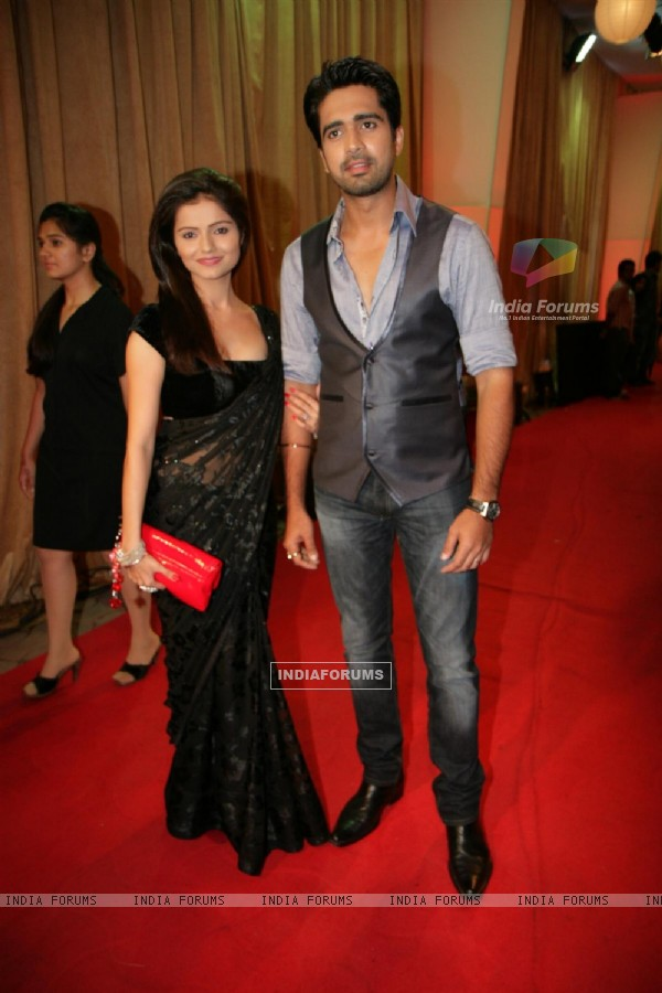 Avinash Sachdev and Rubina Dilaik at Big Television Awards at YashRaj Studios
