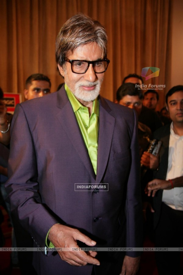 Amitabh Bachchan at Big Television Awards at YashRaj Studios