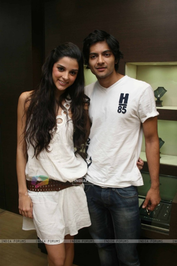 Always Kabhi Kabhi star Giselle Monteiro and Ali Fazal at Gitanjali D'damas new collection launch