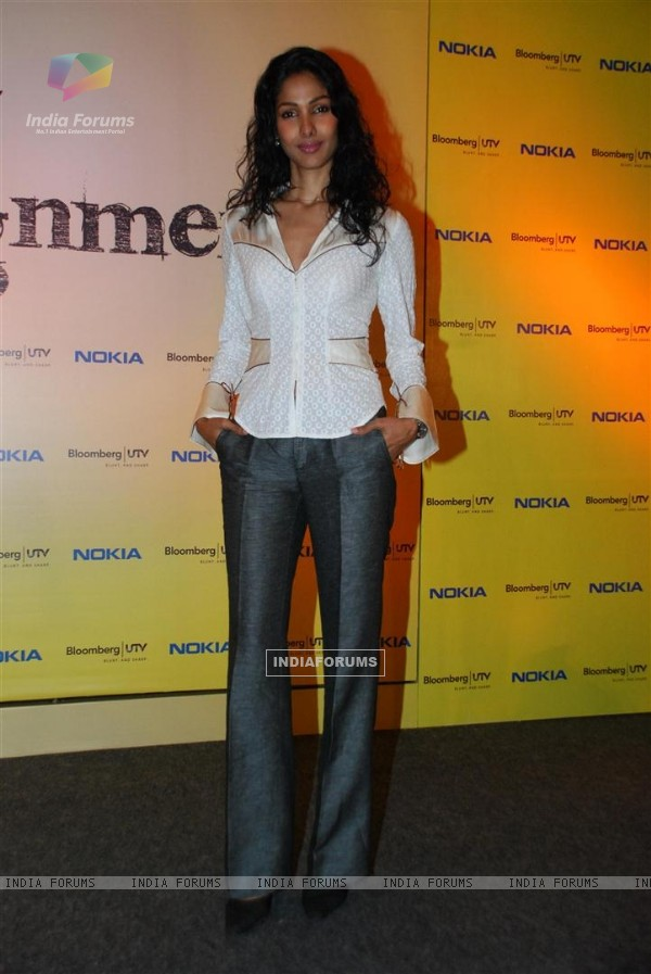 Nethra at 'Bloomberg' UTV's show launch at ITC Parel in Mumbai