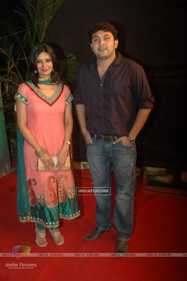 Divyanka Tripathy and Rajesh Kumar at the Gold Awards at Film City