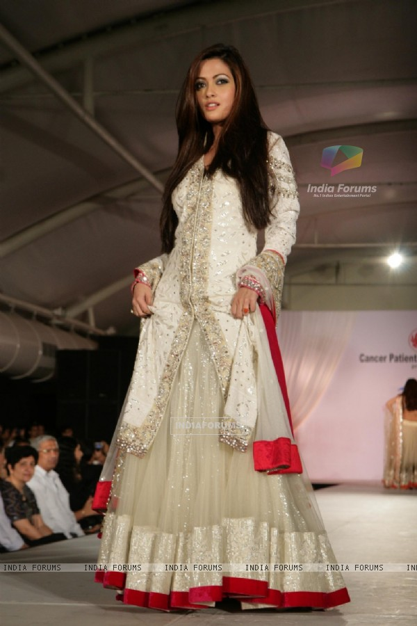 Riya Sen walk the ramp for Shaina NC and Manish Malhotra at the Pidilite-CPAA charity fashion show