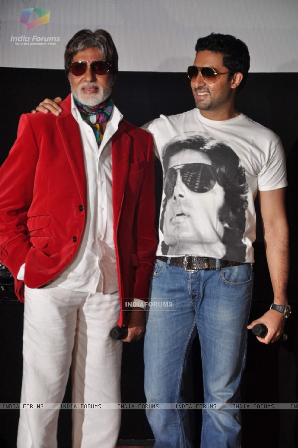 Amitabh and Abhishek Bachchan launch the music video of film Bbuddah...Hoga Terra Baap titled at Cin