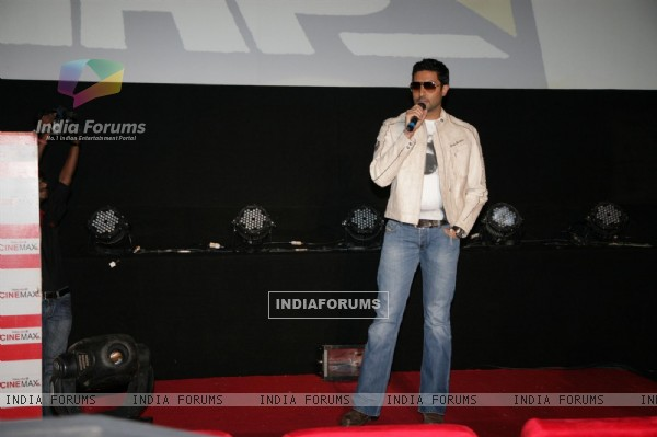 Abhishek Bachchan launch the music video of film Bbuddah...Hoga Terra Baap titled at Cinemax in Versova, Mumbai