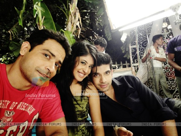 Nitin Sahrawat with Karan Kundra and Kritika Kamra