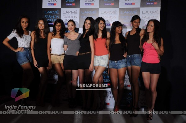 Models at Lakme Fashion Week Model auditions in Grand Hyatt