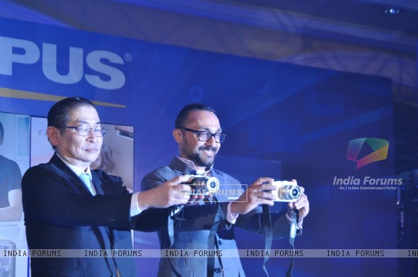 Rahul Bose brand ambassado launch 'Olympus Trinity Series Camera' at ITC hotel Parel
